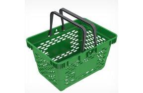 SUPER MARKET PLASTIC BASKET 20lt GREEN